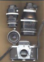 Macchina fotografica EXAKTA 1000 ottica ZEISS con 180mm/f 2,8-135mm/f4-50mm/f2,8
