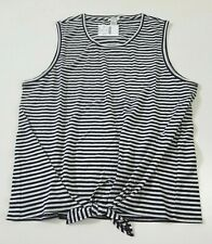 J Crew Factory Striped Tie Front Ivory Navy Tank Top Multiple Sizes