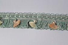 """4.5 meters Blue/cream loop edge Upholstery & Crafts Fringe 1.3/4""""(45 mm.) wide."""