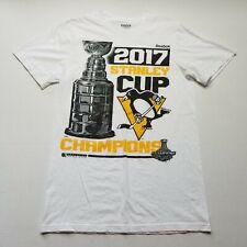 Reebok NHL Pittsburgh Penguins Stanley Cup Champions Mens T-Shirt sz S 2017 B83