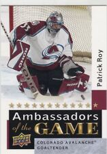 PATRICK ROY 2009-10 UPPER DECK 2 AMBASSADORS OF THE GAME SP #AG54 COLORADO