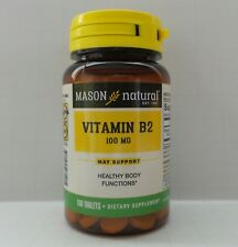100 TABLETS VITAMIN B-2/ B 2 100 MG Vital for ENERGY healthy NERVE function CELL