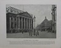 1896 London Aufdruck + Text The Mansion House Lord Mayors Residence Frühe