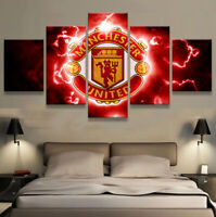 Manchester United Football 5 pcs Painting Printed Canvas Wall Art Home Decor