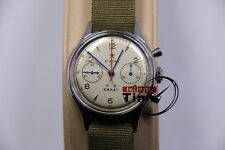 Genuine Seagull Chronograph Man Wristwatch Pilot Officail Reissue 304 St19 1963