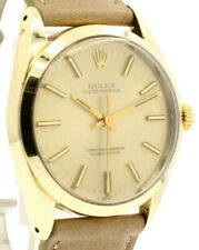 Mens Vintage Rolex Oyster Perpetual 34mm Gold Dial /Shell Ref:1024 Watch c. 1971