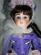 "Marseille ~ Antique 1900 Germany 24"" Bisque Head Darling 2, Replaced Body Wig"