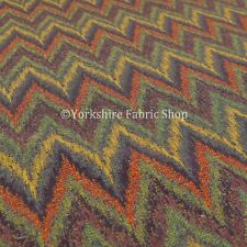 Chevron Pattern Purple Chenille Multi Colour Upholstery Furniture Fabrics