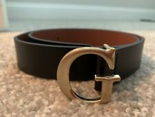GUESS Black Faux Leather G Buckle Gold Studded Belt Womens Size Small S