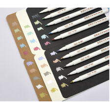 Sipa 10 Color Metallic Marker Pens for Drawing on Dark Paper Cards, Photo, Album