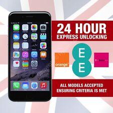PREMIUM UNLOCKING For iPhone 6 Plus Factory Unlock Service EE ORANGE T-MOBILE UK