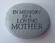 k In Memory of loving mother Bereavement memorial Stone remembrance garden plant