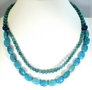 JAY KING AZURE PEAKS TURQUOISE AND LAPIS STERLING SILVER NECKLACE - RETAIL $184