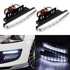2X8 LED Car Light DRL Fog Driving Daylight Daytime Running LED White Head Prof