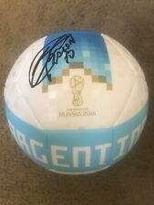 Cristian Pavon Autographed Argentina Soccer Ball Fifa World Cup Russia 2018