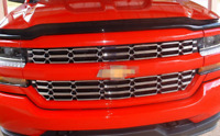 Fit For 2016-2018 Chevy Silverado 1500 Chrome Grille Overlay Snap On Insert