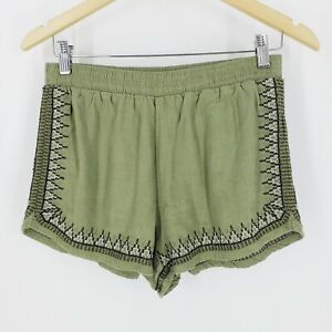 Abercrombie & Fitch Green Festival Shorts with Embroidery Size Medium