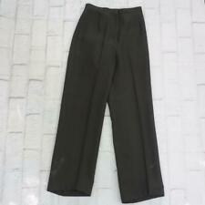 Vintage US Army Green Pants Uniform Polyester Military 1980s Womens 26x29