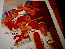 Ted Kluszewski.Gus Bell, McMillan,& Ed Bailey Signed 18x24 Photo/Print -JSA Auth