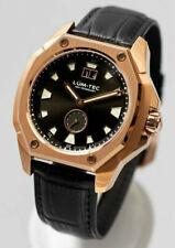 Lum-Tec Watch V14 18K-Gold-Tone Black Dial Big Date Limited Edition AUTH DEALER
