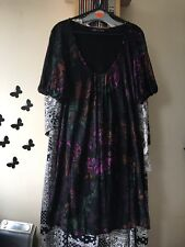 Women's Size 8 Dress Black Mix, Short Puff Sleeves, French Connection Brand