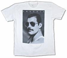 Queen-Freddie Mercury-Blue Freddie-Shades pic-X-Large White  T-shirt