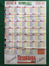 (FM10) CALENDARIO CAMPIONATO CALCIO 1998/1999 A B Poster 80x55 Guerin Sportivo