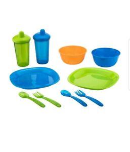 Parent's Choice 10-Piece Set: Fork, Spoon, Bowl, Sippy Cup, Plate: Multi-Color.