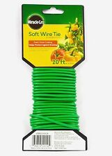 MIRACLE-GRO  Soft Wire Plant Tie 20 Feet Long Durable Versatile Brand New
