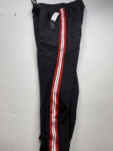 $55 PacSun Adult Size S Small Polyester Black Striped Jogger Sweatpants