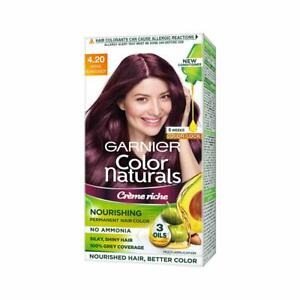 Garnier Color Naturals Creme hair color, Shade 4.20 Wine Burgundy, 70ml + 60g
