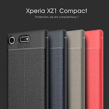 For Sony Xperia XZ1 /Compact Shockproof Cover Soft Leather Patterned Rubber Case