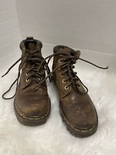 1990s Vintage Dr Martens Brown Saddle Leather Cushion Collar 939 Ankle Boots