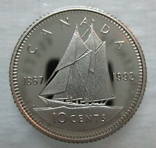 1867-1992 CANADA 10 CENTS 125th CONFEDERATION ANNIVERSARY PROOF DIME COIN