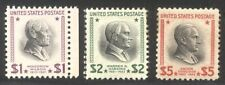 U.S. #832c, 833-34 Mint Nh - 1938 Presidential Issue ($98)