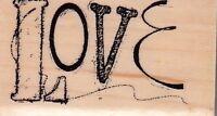 "love inkadinkado Wood Mounted Rubber Stamp 1 x 2""  Free Shipping"