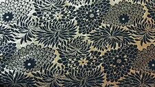 1960s Black and Gold Floral Evening Stole