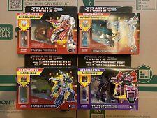 Transformers G1 Reissue Lot Of 4 Mindwipe Hardhead Brainstorm Chromedome New