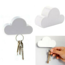Novelty Key Holder Creative Keychain Cloud Shaped Holder Magnetic White  Cloud Awesome Ideas