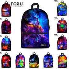 Cool Galaxy Canvas Backpack Women Men Travel School Shoulder Laptop Bag Rucksack