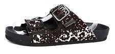 Steve Madden Boundree Black Calf Fur Womens Comfort Sandal Slides Sz 6M 1586