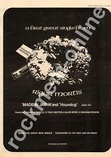 Rigor Mortis John Entwistle The Who Made In Japan Houndog MM3 Advert 1973