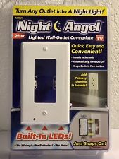 LED Night Angel Wall Outlet Cover Plate Hallway Bathroom Bedroom Kid SQUARE