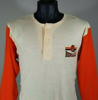 Cincinnati Bengals NFL Football T Shirt Size XL Vintage 80s CHAMPION Henley Tee