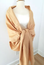 DESIGNER, Vintage Wrap, 100% Silk, Pink-Flesh Colored. Beautiful! 90 X 24 inches