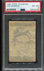 1965 Topps Transfers Baseball LUIS APARICIO Baltimore Orioles PSA 6 EX-MT