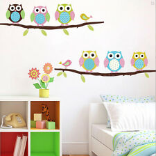 Owl Birds Branch Wall Decal Removable Stickers Kids Baby Vinyl Art Decal W87
