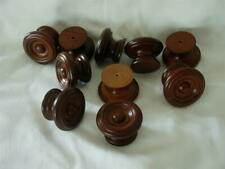 Brown Lacquer Satin Wood Furniture Cabinet Drawer Door Knob Pull Hardware Qty 25