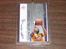 1999-00 SP Authentic Sign of the Times Kobe Bryant - #8 Jersey On Card Autograph
