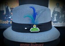 Mens Traditional Dk Gray Lowrider Original Frankshats Garcia hat Fedora with pin